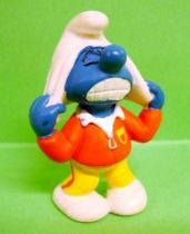 The Smurfs - Schleich - 20529 Trainer (soccer) Smurf