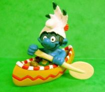 The Smurfs - Schleich - 20550 Idian Smurf with Canoe