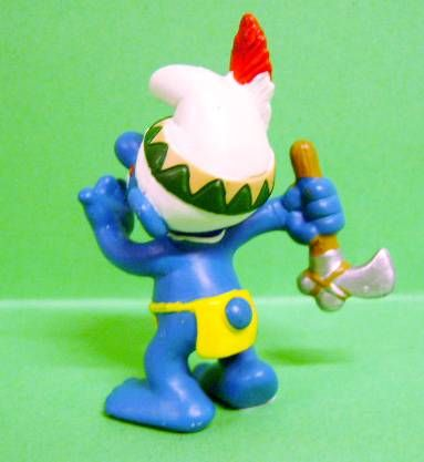 The Smurfs - Schleich - 20552 Idian Smurf with Tomahawk