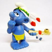The Smurfs - Schleich - 20553 Idian Smurf with Peace Pipe