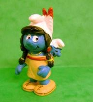 The Smurfs - Schleich - 20554 Squaw Smurfette with Baby