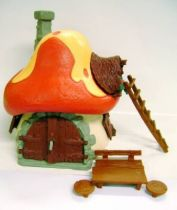 The Smurfs - Schleich - 40001 Smurf Large House with orange roof (Loose)