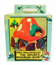 The Smurfs - Schleich - 40001 Smurf Large House with red roof (Mint in Box)