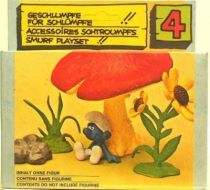 The Smurfs - Schleich - 40060 Mushroom & flowers  Accessories N°4 (Mint in box)