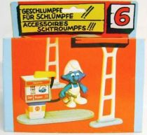 The Smurfs - Schleich - 40080 Gas Station Accessories n°6 (Loose in Box)