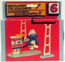 The Smurfs - Schleich - 40080 Gas Station Accessories n°6 (Mint in Box)