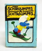 The Smurfs - Schleich - 40205 Skier Smurf (Mint in Box)