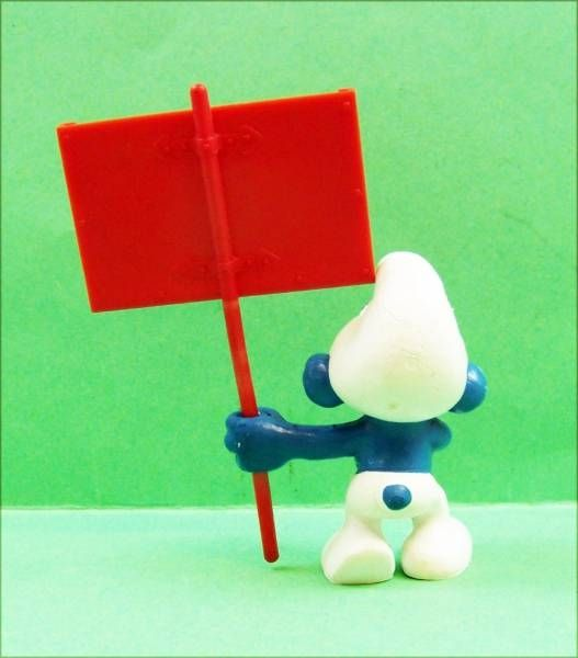 The Smurfs - Schleich - 40208 Messanger Smurf  (red sign)