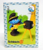 The Smurfs - Schleich - 40217 Smurf photographer (mint in new look box)