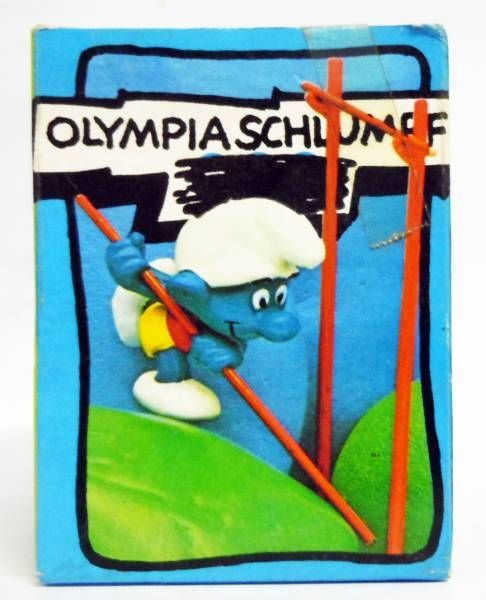 The Smurfs - Schleich - 40506 Olympic Smurf jump with the pole (mint in box)
