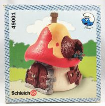 """The Smurfs - Schleich - 49001 Smurf Big House (loose with \""""Modern\"""" Box)"""