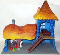 The Smurfs - Schleich - 49027 Gargamel Castel first version (Loose)