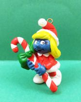 The Smurfs - Schleich - 51912 Christmas Smurf with Candy Cane (W. Berrie Co.)