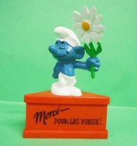 The Smurfs - Schleich - Shy Smurf \'\'Thanks for wishes!\'\' (red base)