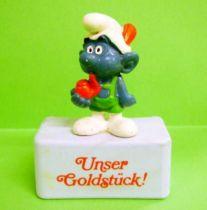 The Smurfs - Schleich - Tirolian Smurf  \'\'Unser Goldstück!\'\' (blue base)