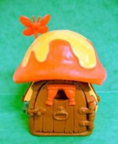 The Smurfs - Schleich 49011 Smurf - Little House (Yellow) with Red & Yellow Roof  (Loose)