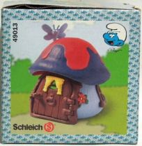 The Smurfs - Schleich 49013 Smurf Mint in New Look Box little house with dark blue roof