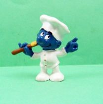 The Smurfs - Schliech Clips PVC Figure - Cook Smurf # 1 (loose)