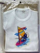 The Smurfs - Vintage White T-shirt - Surfin Smurf (size 10 years)