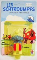 The Smurfs - Wind up Céji - Smurf with present (mint on card)
