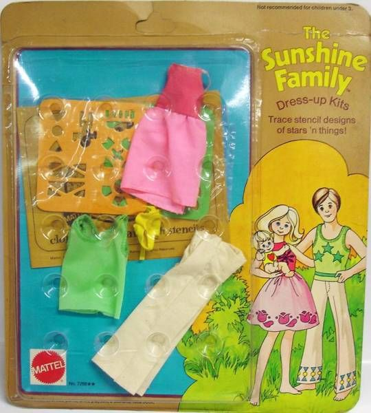 The Sunshine Family - Stencil designs Dress-up Kit - Mattel