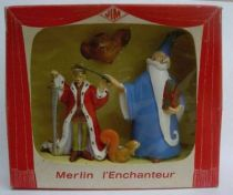 The Sword in the Stone Boxed Set Plastic figure Jim Merlin Arthur Archimede Squirrel