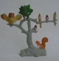 The Sword in the Stone Plastic figure Jim Tree with archimedes & Squirrel