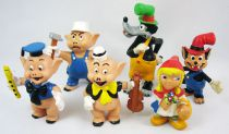 The Three Little Pigs - Comics Spain Complete set of 6 pvc figures