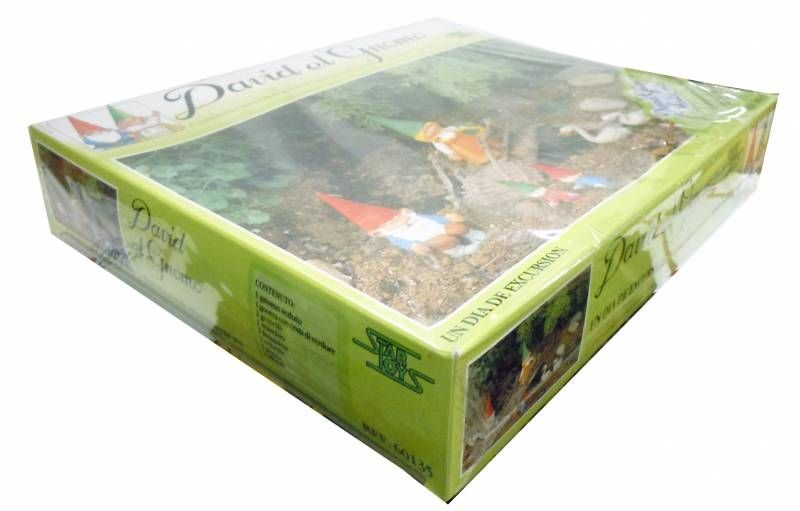 """The world of David the Gnome - PVC Figure - \""""A journey\"""" Gift Set"""