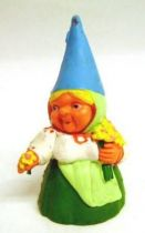 The world of David the Gnome - PVC Figure - Lisa picking of the flowers (green dress)