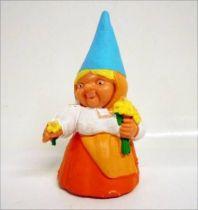The world of David the Gnome - PVC Figure - Lisa picking of the flowers (orange dress)