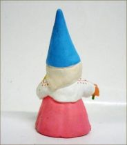 The world of David the Gnome - PVC Figure - Lisa picking of the flowers (pink dress)