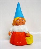 The world of David the Gnome - PVC Figure - Lisa with a bucket (orange dress)