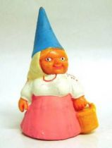 The world of David the Gnome - PVC Figure - Lisa with a bucket (pink dress)