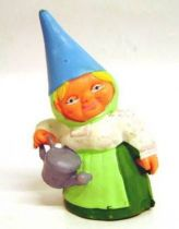 The world of David the Gnome - PVC Figure - Lisa with a watering-can (green dress)