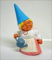 The world of David the Gnome - PVC Figure - Lisa with a watering-can (pink dress)