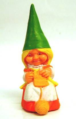 The world of David the Gnome - PVC Figure - Susan knits (orange dress)