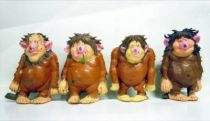 The world of David the Gnome - PVC Figure - Trolls (Holley, Poopey, Pot & Pat)