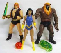 Thundarr the Barbarian - Toynami - Set of 3 loose figures : Thundarr, Ariel & Ookla