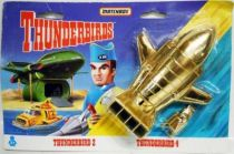 Thunderbirds - Matchbox - TB2 & TB4 \'\'Golden\'\' Diecast Vehicles (Mint on Card)