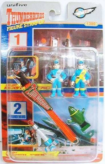Thunderbirds - Unifive - PVC Mini Figures + vehicles - Phone Strap