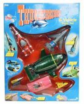 Thunderbirds - Vivid - Rescue Pack: Set de 6 Véhicules plastiques sonores (TB1, TB2, TB3, TB4, FAB1 & Mole)
