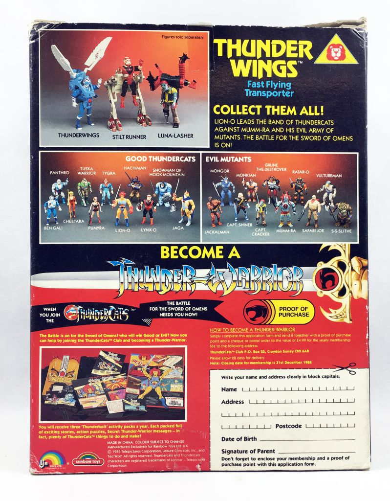 Thundercats - LJN (Rainbow Toys) - Thunderwings (mint in box)
