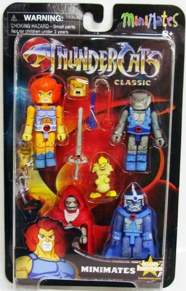 Thundercats (Cosmocats) - Art Asylum Minimates - Lion-O, Mumm-Ra, Panthro, Jaga, Snarf