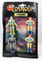 Thundercats (Cosmocats) - Kidworks - Figurines Gomme - Lion-O x2, Mumm-Ra, Panthro (erreur de production)