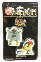 Thundercats (Cosmocats) - Spindex - Gommes - Lion-O & Mumm-Ra (neuves sous blister)