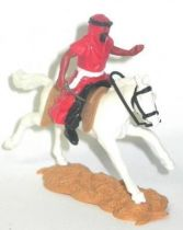Timpo - Arabs - Mounted - red (variation) (knife) black trousers (white belt) white galloping (long) horse