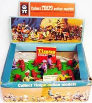 Timpo - Cow Boys - Scene Cowboy branding calf (ref 997) - 6 pieces retailer display box