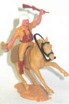 Timpo - Foreign Legion - Mounted throwing grenade light brown galloping (short) horse