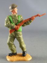 Timpo - WW2 - British Infantry - 2nd series - Rifle on front of bust standing advancing legs